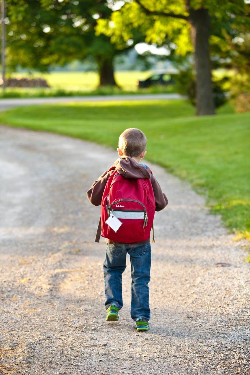 Child Walking Down Path